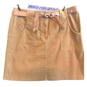 Tan INC Corduroy Mini Skirt, Size 12